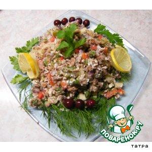 Салат с тунцом к Рождеству