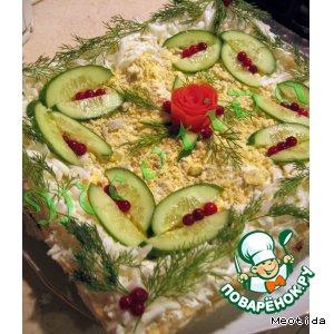 """Закусочный тортик """"Свет Рождества"""""""