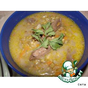 Суп из маша с бараниной
