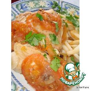 Запеченная курица в соусе из помидоров