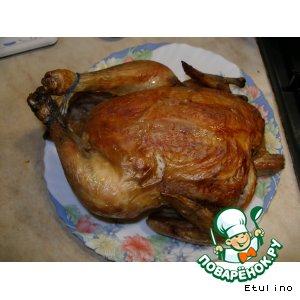 Курица, запеченная на соли