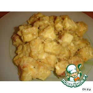 Тофу с медом и горчицей
