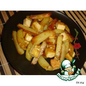 Жареный картофель с тофу