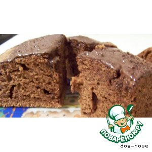Шоколадно-сметанный кекс