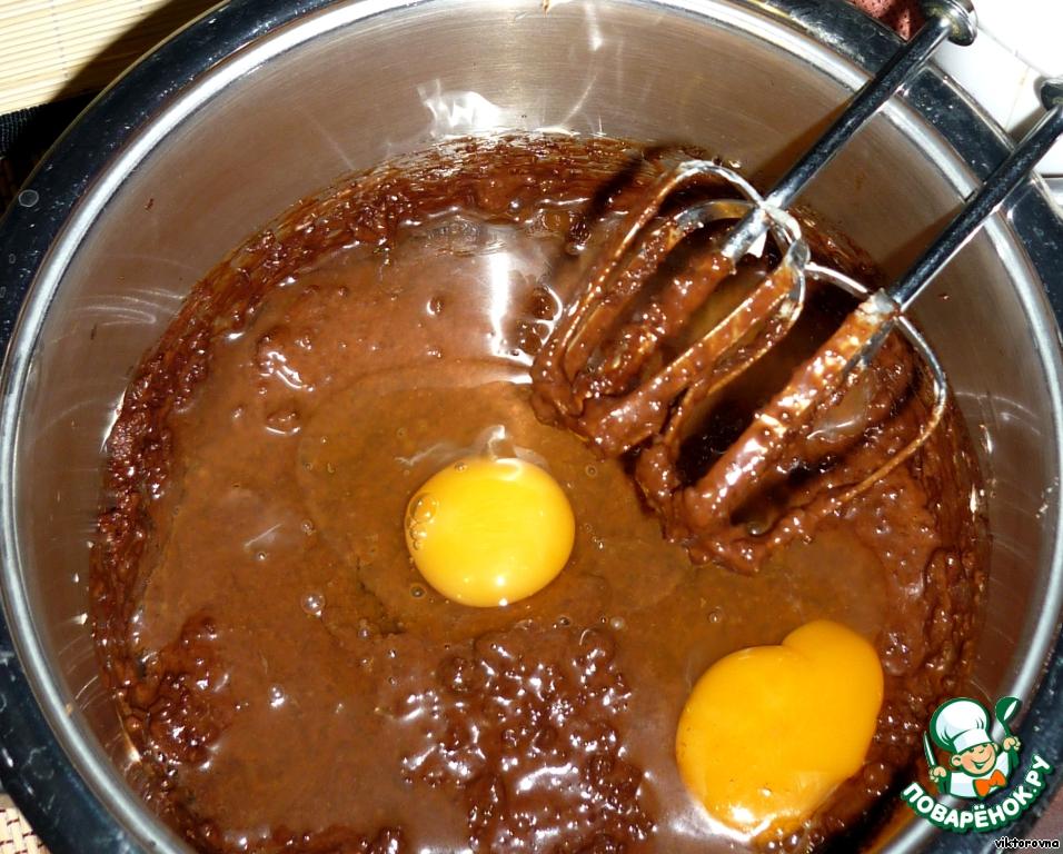 +яйца, все размешать       Залить в форму
