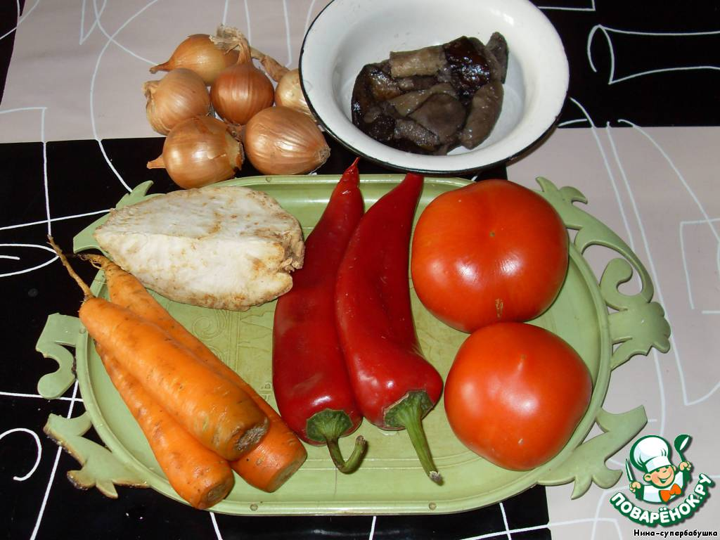 Я варила двойную порцию. Подготовить овощи, помыть их.
