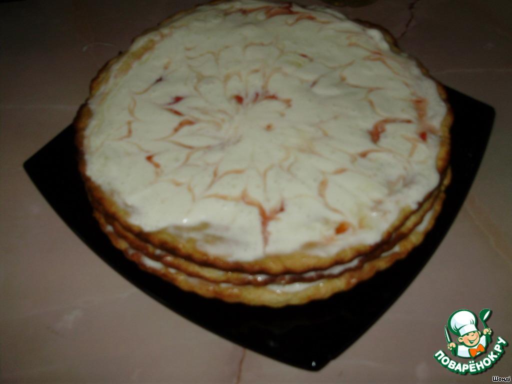 Торт ставим на холод на 2 часа, для пропитки.