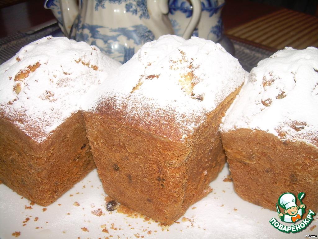 Полностью остывшие кексы вынимаем из форм, посыпаем сахарной пудрой..