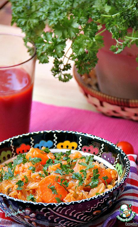 Блюдо посыпать зеленью петрушки.   Перец чили нужно добавлять согласно вкусам ваших домочадцев, желательно - свежемолотый, уже непосредственно в тарелку.