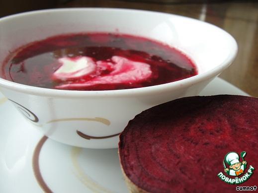 Если все сделано правильно, то вы получите очень яркий, насыщенного цвета и вкуса суп. Приятного и красивого всем аппетита!