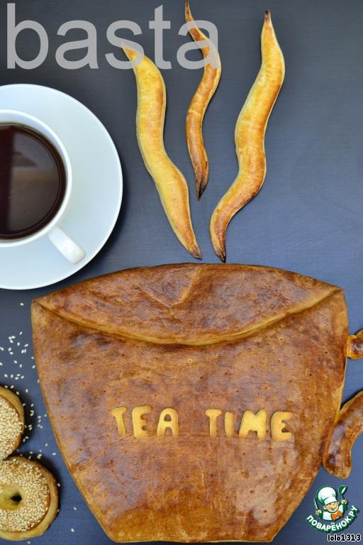 Для второго пирога в форме чайной чашки  использовать оставшееся тесто.Для начинки использовать любое варенье.   Пошаговое приготовление  не ставлю,наверное не поместится ...