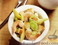 Салат с креветками и грушами
