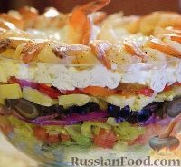 Слоеный греческий салат
