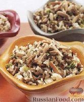 Салат из риса и куриного филе