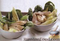 Салат с маринованой курятиной