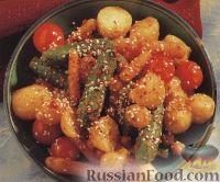 Пикантные жареные овощи