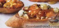Сладкие бутерброды с курагой, орехами, сыром и медом