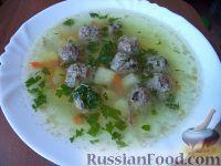 Суп картофельный с мясными фрикадельками