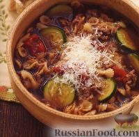 Суп с фаршем и цуккини