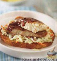 Бутерброд с тилапией и капустой