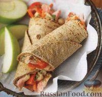 Закусочные рулеты с овощами и тунцом