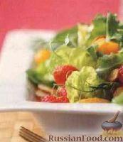 Салат с малиной и апельсином