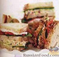 Сэндвичи с лососем и шпинатом