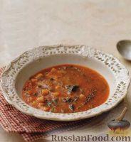 Томатный суп-пюре с мелкой пастой
