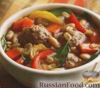 Суп с перловкой и мясными шариками