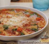 Овощной суп с пастой и фасолью