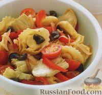 Салат из тортеллини и овощей
