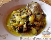 Картофельный суп с вешенками и плавленым сырком