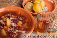 Фасолевый суп на косточках