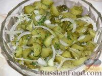 Салат из соленых огурцов с луком