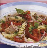 Салат из макарон, тунца и болгарского перца