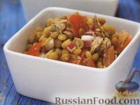 Салат из чечевицы и тунца