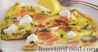 Омлет с лососем и сливочным сыром