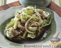Бутерброд с сельдью, картофелем и пореем
