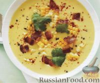 Суп-пюре с кукурузой и беконом