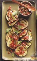 Баклажаны, жаренные на гриле с томатным соусом