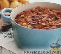 Суп с фасолью и кукурузой