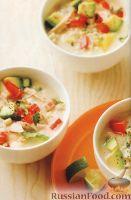 Сливочный суп с кукурузой и курятиной