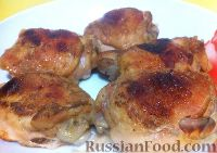 Курица, запеченная в яблочном соке