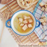Картофельный суп-пюре с грибами, на курином бульоне