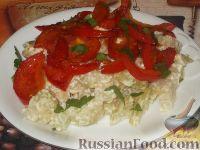 Кольраби, тушенная в сметане с помидорами