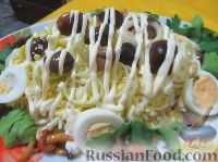 Салат из яиц с грибами