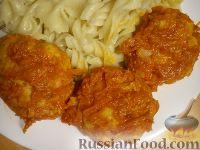 Тефтели из куриного филе, с сухарями