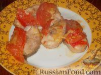 Судак, запеченный с помидорами