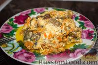 Скумбрия с овощами в сметанном соусе