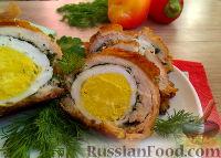 Куриные рулетики с яйцом